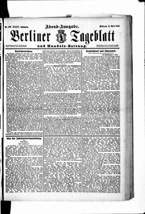 Berliner Tageblatt und Handels-Zeitung vom 11.04.1906