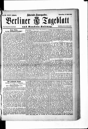 Berliner Tageblatt und Handels-Zeitung vom 12.04.1906
