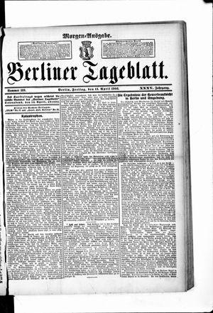 Berliner Tageblatt und Handels-Zeitung vom 13.04.1906