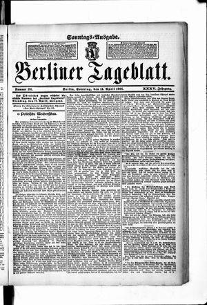 Berliner Tageblatt und Handels-Zeitung vom 15.04.1906