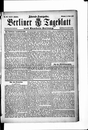Berliner Tageblatt und Handels-Zeitung vom 18.04.1906