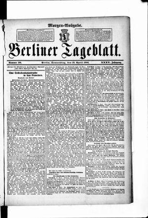 Berliner Tageblatt und Handels-Zeitung vom 19.04.1906