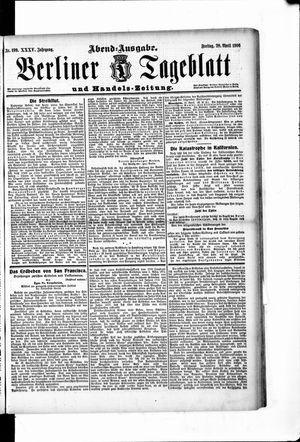 Berliner Tageblatt und Handels-Zeitung vom 20.04.1906