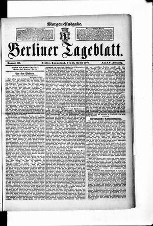 Berliner Tageblatt und Handels-Zeitung vom 21.04.1906