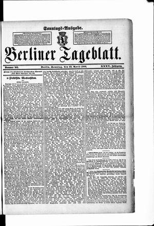 Berliner Tageblatt und Handels-Zeitung vom 22.04.1906