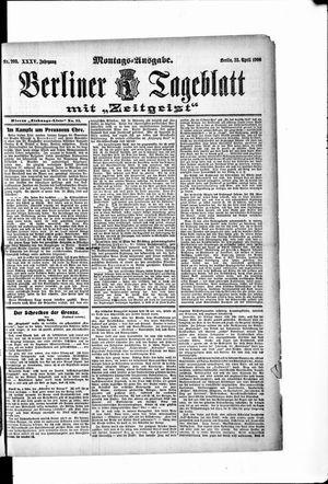 Berliner Tageblatt und Handels-Zeitung vom 23.04.1906