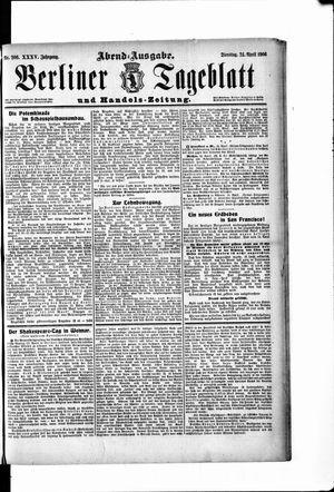 Berliner Tageblatt und Handels-Zeitung vom 24.04.1906