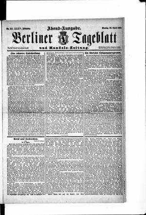 Berliner Tageblatt und Handels-Zeitung vom 30.04.1906