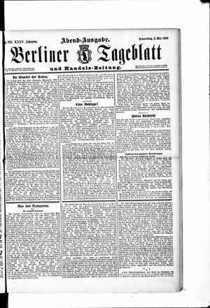 Berliner Tageblatt und Handels-Zeitung vom 03.05.1906