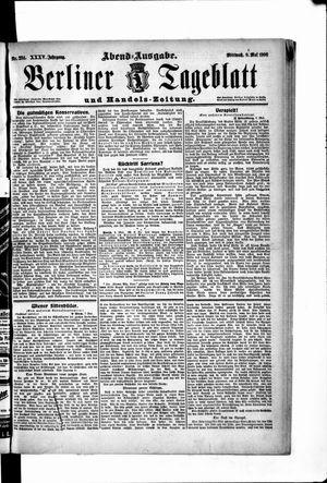 Berliner Tageblatt und Handels-Zeitung vom 09.05.1906
