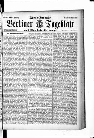 Berliner Tageblatt und Handels-Zeitung vom 12.05.1906