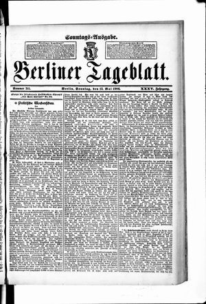 Berliner Tageblatt und Handels-Zeitung vom 13.05.1906
