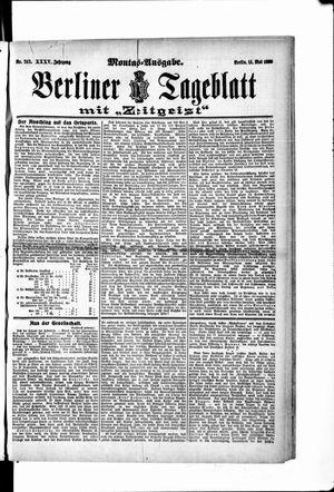 Berliner Tageblatt und Handels-Zeitung vom 14.05.1906