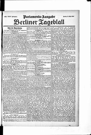 Berliner Tageblatt und Handels-Zeitung on May 15, 1906