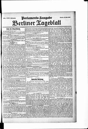 Berliner Tageblatt und Handels-Zeitung vom 16.05.1906