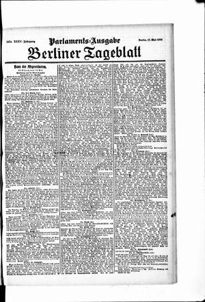 Berliner Tageblatt und Handels-Zeitung vom 17.05.1906