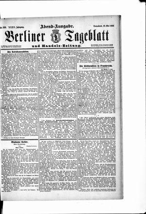 Berliner Tageblatt und Handels-Zeitung vom 19.05.1906