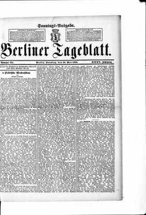 Berliner Tageblatt und Handels-Zeitung vom 20.05.1906