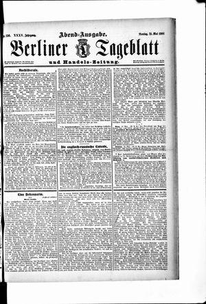 Berliner Tageblatt und Handels-Zeitung vom 21.05.1906