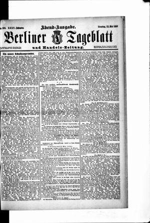 Berliner Tageblatt und Handels-Zeitung vom 22.05.1906