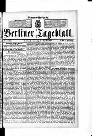 Berliner Tageblatt und Handels-Zeitung vom 24.05.1906