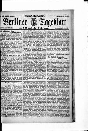 Berliner Tageblatt und Handels-Zeitung vom 26.05.1906
