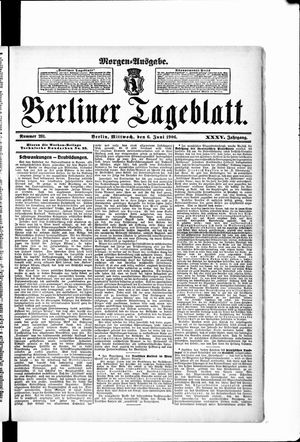 Berliner Tageblatt und Handels-Zeitung vom 06.06.1906