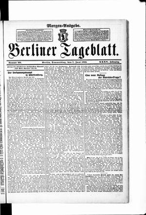 Berliner Tageblatt und Handels-Zeitung vom 07.06.1906