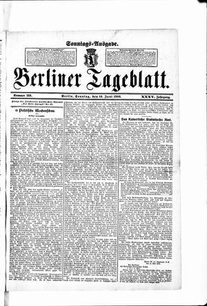 Berliner Tageblatt und Handels-Zeitung vom 10.06.1906