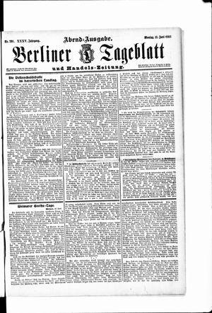 Berliner Tageblatt und Handels-Zeitung vom 11.06.1906