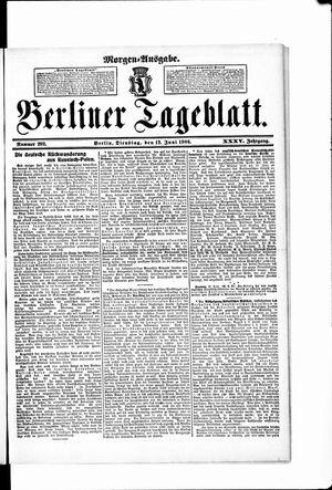 Berliner Tageblatt und Handels-Zeitung on Jun 12, 1906