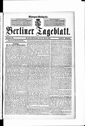 Berliner Tageblatt und Handels-Zeitung vom 13.06.1906