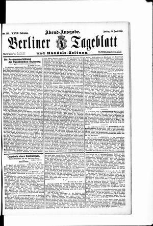 Berliner Tageblatt und Handels-Zeitung vom 15.06.1906