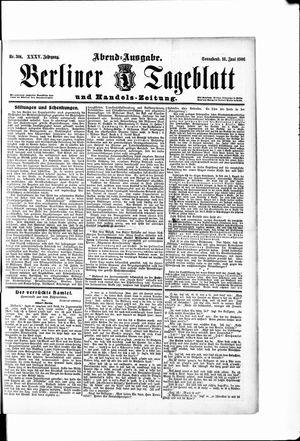 Berliner Tageblatt und Handels-Zeitung vom 16.06.1906