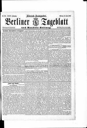 Berliner Tageblatt und Handels-Zeitung vom 18.06.1906