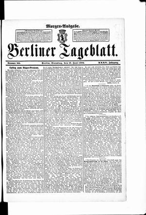 Berliner Tageblatt und Handels-Zeitung vom 19.06.1906