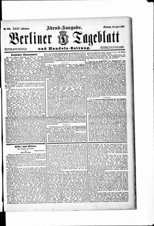 Berliner Tageblatt und Handels-Zeitung vom 20.06.1906
