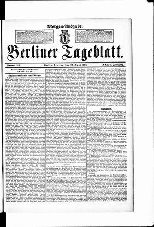 Berliner Tageblatt und Handels-Zeitung vom 22.06.1906