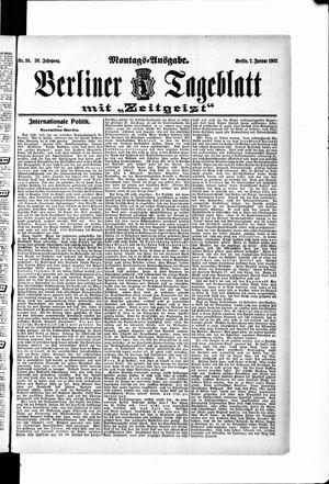 Berliner Tageblatt und Handels-Zeitung vom 07.01.1907
