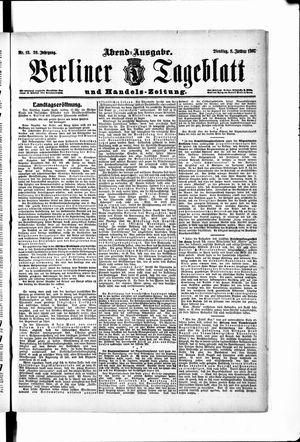 Berliner Tageblatt und Handels-Zeitung vom 08.01.1907