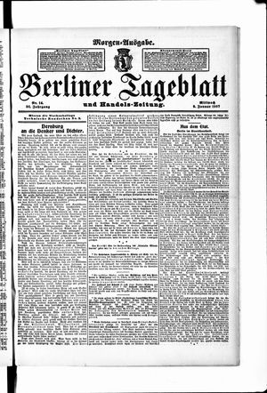 Berliner Tageblatt und Handels-Zeitung vom 09.01.1907