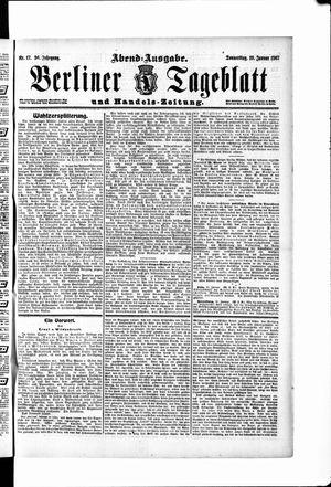 Berliner Tageblatt und Handels-Zeitung vom 10.01.1907