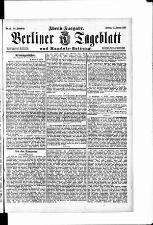 Berliner Tageblatt und Handels-Zeitung vom 11.01.1907
