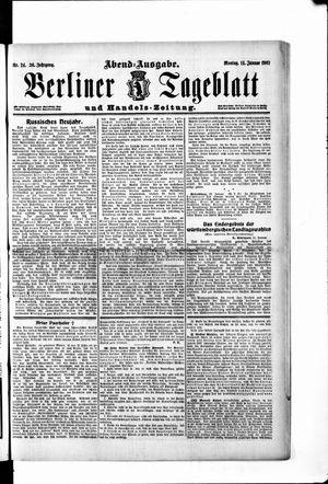 Berliner Tageblatt und Handels-Zeitung vom 14.01.1907