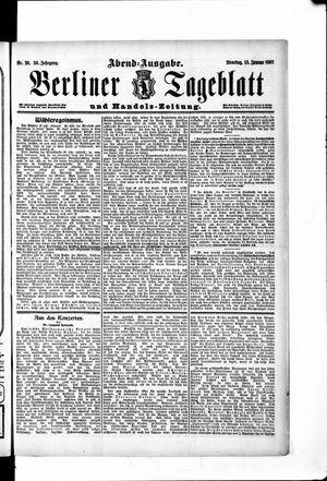 Berliner Tageblatt und Handels-Zeitung vom 15.01.1907