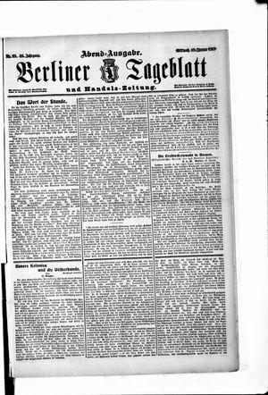 Berliner Tageblatt und Handels-Zeitung vom 16.01.1907