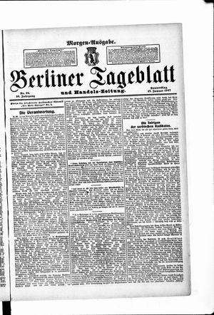 Berliner Tageblatt und Handels-Zeitung vom 17.01.1907