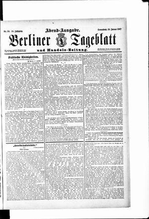 Berliner Tageblatt und Handels-Zeitung vom 19.01.1907