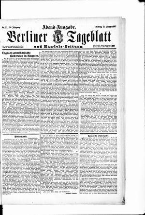 Berliner Tageblatt und Handels-Zeitung vom 21.01.1907