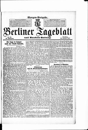 Berliner Tageblatt und Handels-Zeitung vom 22.01.1907